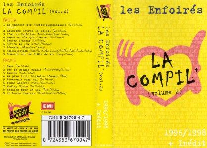 K7 La Compil' (Vol. 2) K7 n° - EMI Music France 7243 5 36700 4 (Recto)