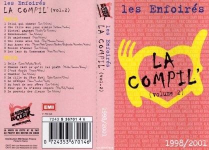 K7 La Compil' (Vol. 2) K7 n° - EMI Music France 7243 5 36701 4 (Recto)