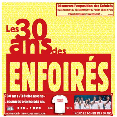 """""""Les 30 ans des Enfoirés 1989-2019"""" Précommandez le coffret"""